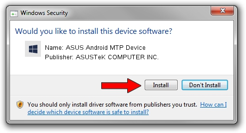 ASUSTeK COMPUTER INC. ASUS Android MTP Device driver installation 32888