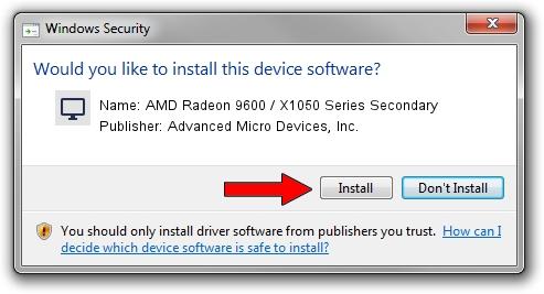Advanced Micro Devices, Inc. AMD Radeon 9600 / X1050 Series Secondary driver installation 584452