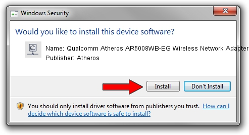 Atheros Qualcomm Atheros AR5008WB-EG Wireless Network Adapter 2 driver installation 20534