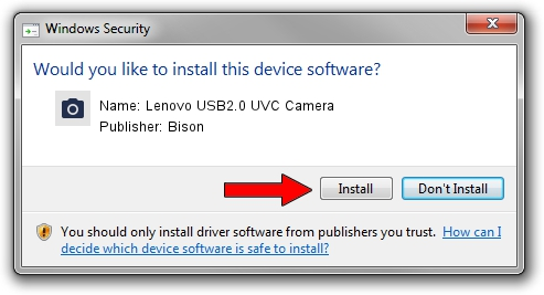 Bison Lenovo USB2.0 UVC Camera driver installation 610104
