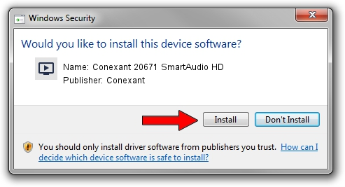 Conexant Conexant 20671 SmartAudio HD driver download 19367