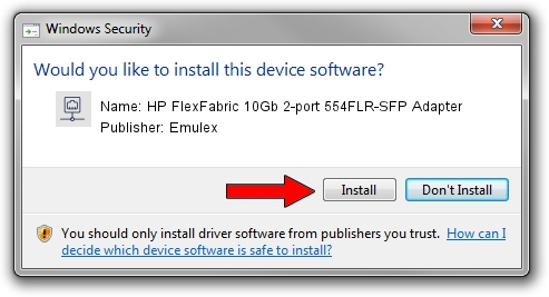 Emulex HP FlexFabric 10Gb 2-port 554FLR-SFP Adapter setup file 647121