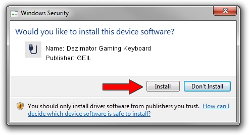 GEIL Dezimator Gaming Keyboard driver installation 652038
