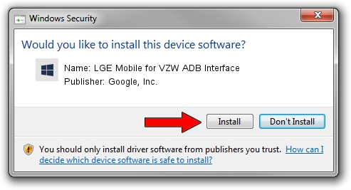 Google, Inc. LGE Mobile for VZW ADB Interface driver installation 6498