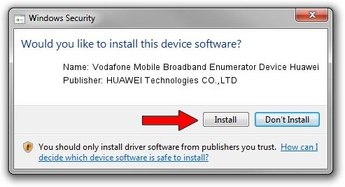 HUAWEI Technologies CO.,LTD Vodafone Mobile Broadband Enumerator Device Huawei driver installation 17884