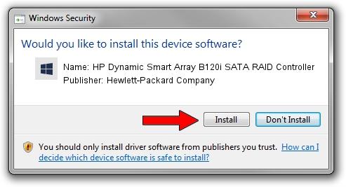 Hewlett-Packard Company HP Dynamic Smart Array B120i SATA RAID Controller setup file 26719