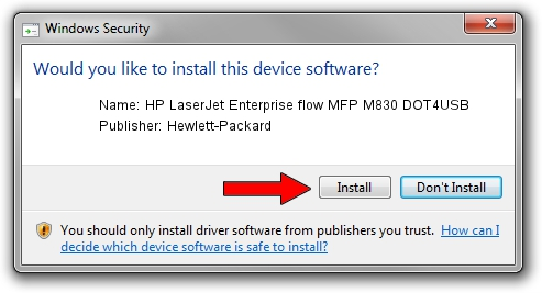 Hewlett-Packard HP LaserJet Enterprise flow MFP M830 DOT4USB driver installation 12790