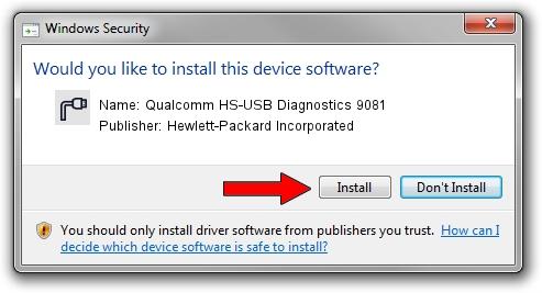 Hewlett-Packard Incorporated Qualcomm HS-USB Diagnostics 9081 driver installation 42471