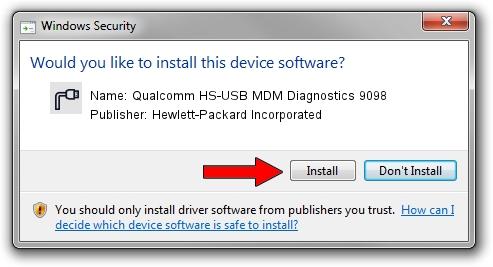 Hewlett-Packard Incorporated Qualcomm HS-USB MDM Diagnostics 9098 driver installation 42433