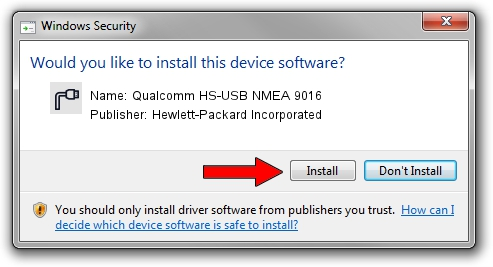 Hewlett-Packard Incorporated Qualcomm HS-USB NMEA 9016 driver installation 42615