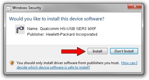 Hewlett-Packard Incorporated Qualcomm HS-USB SER3 905F setup file 42513