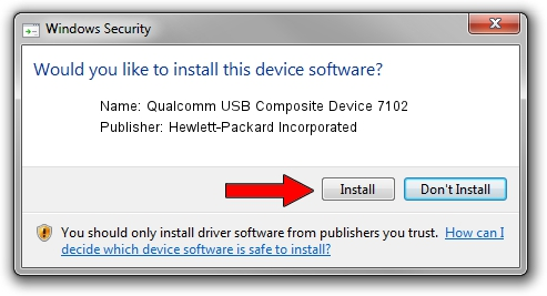 Hewlett-Packard Incorporated Qualcomm USB Composite Device 7102 driver installation 26091