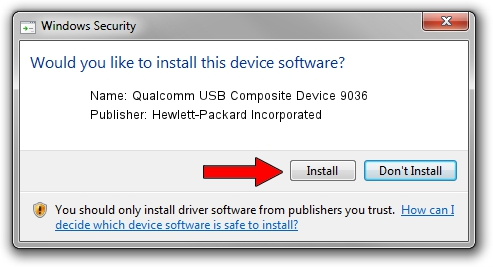Hewlett-Packard Incorporated Qualcomm USB Composite Device 9036 driver installation 26046