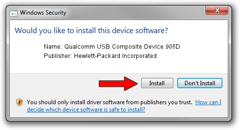 Hewlett-Packard Incorporated Qualcomm USB Composite Device 905D driver installation 26015