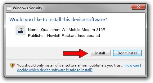 Hewlett-Packard Incorporated Qualcomm WinMobile Modem 319B driver installation 25824