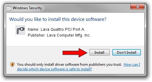 Lava Computer Mfg. Inc. Lava Quattro PCI Port A driver installation 655630