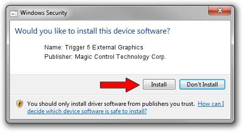Magic Control Technology Corp. Trigger 5 External Graphics driver installation 3380