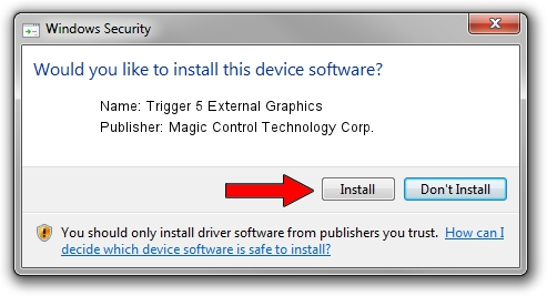 Magic Control Technology Corp. Trigger 5 External Graphics driver installation 3457