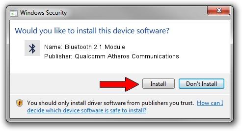 Qualcomm Atheros Communications Bluetooth 2.1 Module driver installation 621219