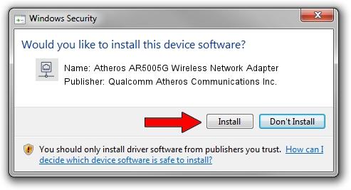 Qualcomm Atheros Communications Inc. Atheros AR5005G Wireless Network Adapter setup file 30742