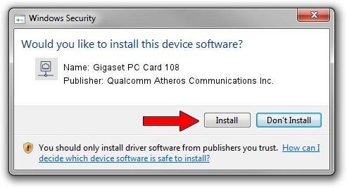 Qualcomm Atheros Communications Inc. Gigaset PC Card 108 driver installation 31001