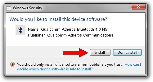 Qualcomm Atheros Communications Qualcomm Atheros Bluetooth 4.0 HS driver installation 651594
