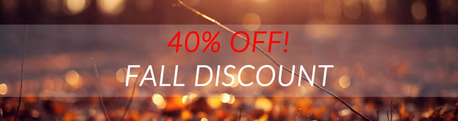 fall 40% discount