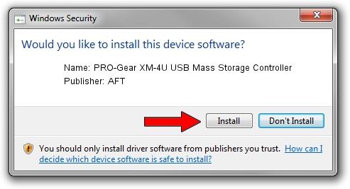 AFT PRO-Gear XM-4U USB Mass Storage Controller driver installation 1321257