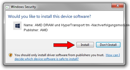 AMD AMD DRAM und HyperTransport tm -Nachverfolgungsmoduskonfiguration driver download 1430857