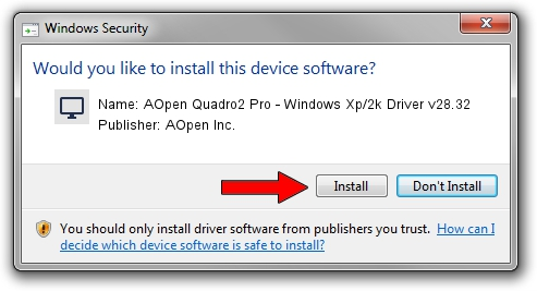 AOpen Inc. AOpen Quadro2 Pro - Windows Xp/2k Driver v28.32 setup file 1436777