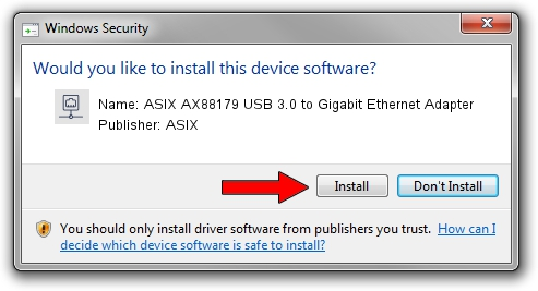 ASIX ASIX AX88179 USB 3.0 to Gigabit Ethernet Adapter driver download 1406069