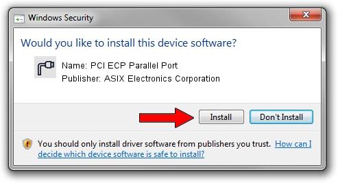 ASIX Electronics Corporation PCI ECP Parallel Port setup file 1399887