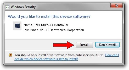 ASIX Electronics Corporation PCI Multi-IO Controller driver installation 1417784