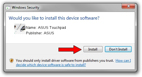 ASUS ASUS Touchpad driver installation 621705