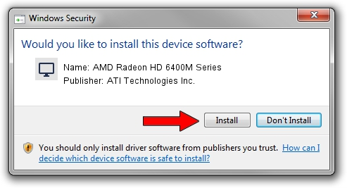 ATI Technologies Inc. AMD Radeon HD 6400M Series setup file 1438854