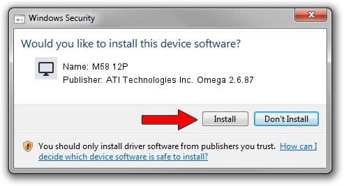ATI Technologies Inc. Omega 2.6.87 M58 12P setup file 986507
