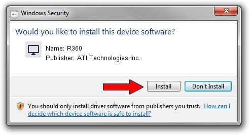 ATI Technologies Inc. R360 driver installation 1390213