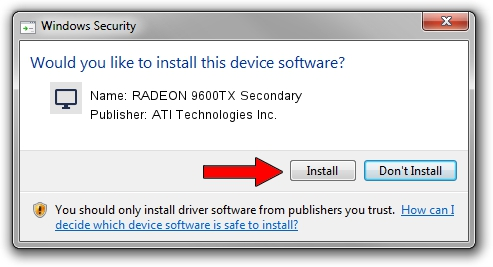 ATI Technologies Inc. RADEON 9600TX Secondary driver download 1389751