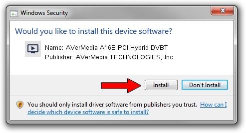AVerMedia TECHNOLOGIES, Inc. AVerMedia A16E PCI Hybrid DVBT driver installation 987170