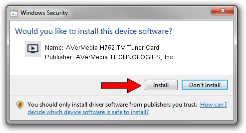 AVerMedia TECHNOLOGIES, Inc. AVerMedia H752 TV Tuner Card driver installation 1417672
