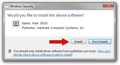 Aardvark Computer Systems, Inc. Aark 20/20 driver installation 1263685