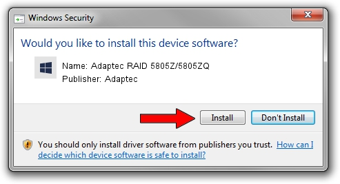 Adaptec Adaptec RAID 5805Z/5805ZQ driver installation 1430747