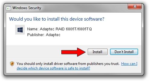 Adaptec Adaptec RAID 6805T/6805TQ setup file 1390706