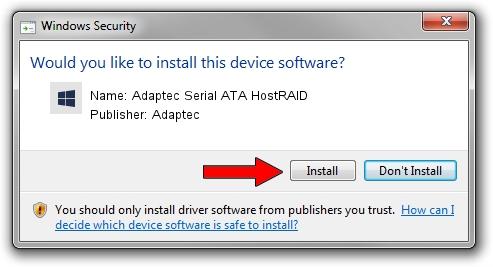 Adaptec Adaptec Serial ATA HostRAID driver download 1053216