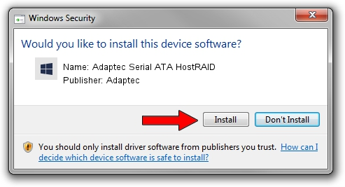 Adaptec Adaptec Serial ATA HostRAID driver installation 1923192