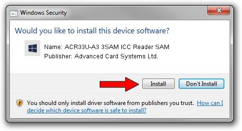 Advanced Card Systems Ltd. ACR33U-A3 3SAM ICC Reader SAM driver installation 423735