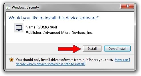 Advanced Micro Devices, Inc. SUMO 964F driver installation 1104533