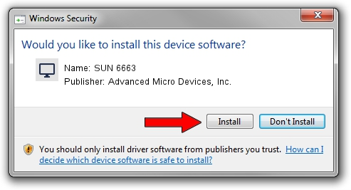 Advanced Micro Devices, Inc. SUN 6663 driver installation 1422183