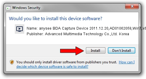 Advanced Multimedia Technology Co.,Ltd. Korea anysee BDA Capture Device 2011.12.20,AD01062058,Win7,x64 setup file 1431811