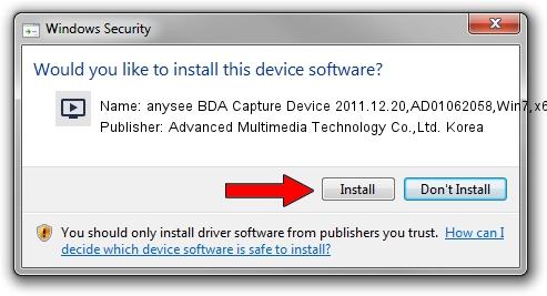 Advanced Multimedia Technology Co.,Ltd. Korea anysee BDA Capture Device 2011.12.20,AD01062058,Win7,x64 driver download 1431815